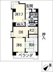 クレセントマンションK[5階]の間取り