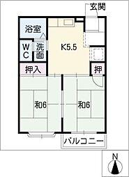 NEWS1[2階]の間取り