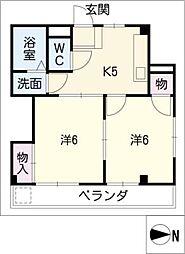 シンコーハイツ[2階]の間取り