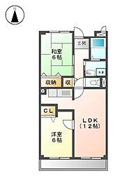 タツミA・B[2階]の間取り