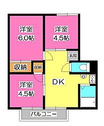 エステート3[2階]の間取り