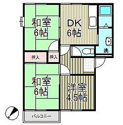 フレグランス飯島B棟[1階]の間取り
