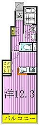 千葉県柏市亀甲台町1の賃貸アパートの間取り