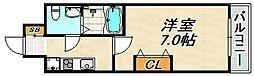 マロワール神戸 10階1Kの間取り
