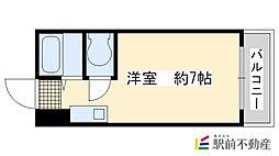 藤田マンション 5階ワンルームの間取り