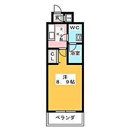 ルラシオン岡山野田屋町[6階]の間取り