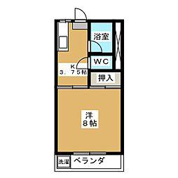 ユーアイマンションE棟[1階]の間取り