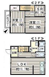 [テラスハウス] 神奈川県横須賀市池田町1丁目 の賃貸【/】の間取り