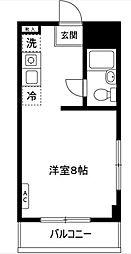 ビューハイツ大倉山[4階]の間取り