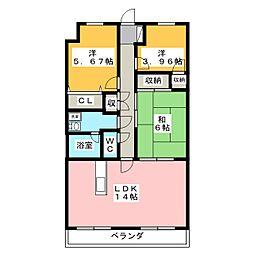 ソレール[2階]の間取り