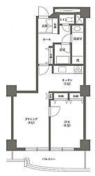 文京グリーンコートビュータワー本駒込A棟 4階1LDKの間取り