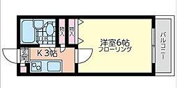 ペール・メールRisa I[2階]の間取り