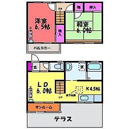 クローネ下赤江[1階]の間取り