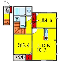 シャスタ[2階]の間取り