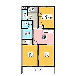 ツインベルテA[1階]の間取り