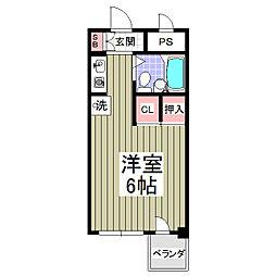 宮前ビル[703号室]の間取り