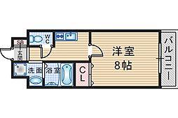 ロイヤルコート中桜塚[802号室]の間取り