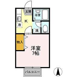 サンシャインパレス B棟[2階]の間取り