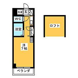 コーポT's1[3階]の間取り