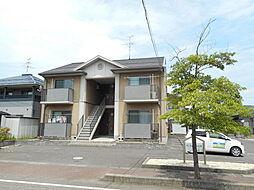 新潟県新潟市江南区茜ケ丘の賃貸アパートの外観