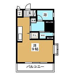 スクエア栄[6階]の間取り