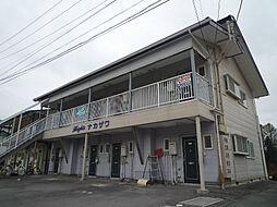 長野県茅野市豊平の賃貸アパートの外観