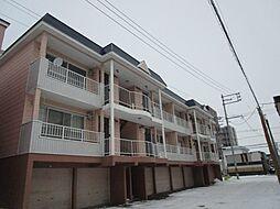 北海道札幌市東区北四十条東5丁目の賃貸アパートの外観