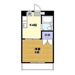 プラス1USHIO[202号室]の間取り