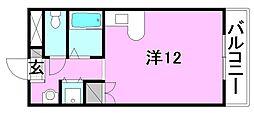 ベルメゾン畑寺[305 号室号室]の間取り