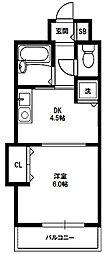 ノルデンハイムリバーサイド十三[2階]の間取り