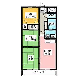 メルベーユ殿岡[4階]の間取り