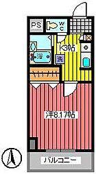 埼玉県さいたま市浦和区常盤10丁目の賃貸マンションの間取り
