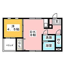 U−BOX[2階]の間取り