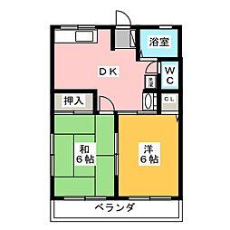 カルテット[2階]の間取り