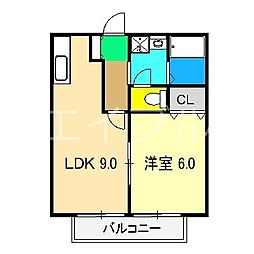 シャーメゾン札場 B棟[2階]の間取り