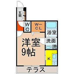 愛知県名古屋市西区城西3丁目の賃貸マンションの間取り