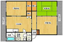 倉西コーポ[301号室]の間取り