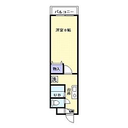 レジデンス上野田2[2階]の間取り