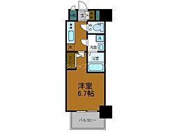 Osaka Metro千日前線 鶴橋駅 徒歩2分の賃貸マンション 14階1Kの間取り