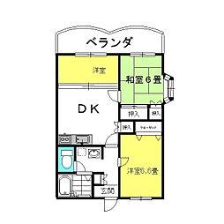 茨城県神栖市知手中央9丁目の賃貸マンションの間取り