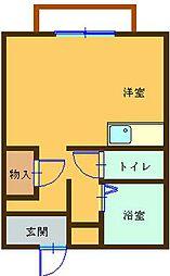 ハイツフレンド広沢II[203号室]の間取り