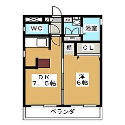 タウンコート砂田[3階]の間取り