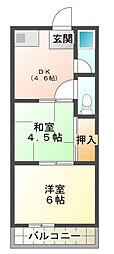 三森マンション[2階]の間取り