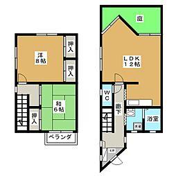 [テラスハウス] 静岡県静岡市葵区北安東1丁目 の賃貸【/】の間取り