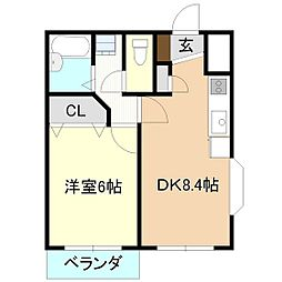 ソレイユ高野台[2階]の間取り