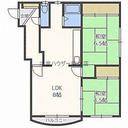 ヨシパール53[3階]の間取り