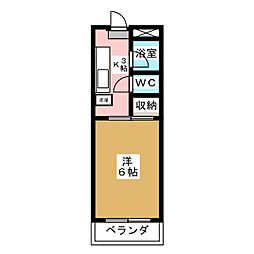 グリーンリバー富沢[1階]の間取り