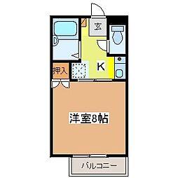 広島県東広島市高屋町宮領の賃貸アパートの間取り