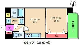 アルグラッド新福島[2階]の間取り