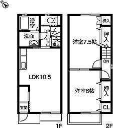 [テラスハウス] 愛知県小牧市大字小松寺 の賃貸【/】の間取り